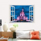 "Cinderella Sleeping Beauty Castle Disney Wall Decal 20""x28"" Design Vinyl"