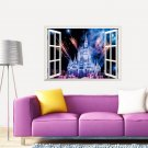 "Cinderella Sleeping Beauty Castle Wall Decal 20""x28"" Disney Design Vinyl Design 2"