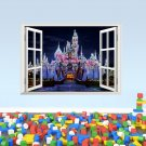 "Cinderella Sleeping Beauty Castle Wall Decal 20""x28"" Disney Design Vinyl Design 3"