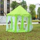 Princess Castle Play tent Portable Royal Fairy Theme Indoor Outdoor- Green