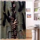 The Walking Dead Shower Curtain Horror Series Hollywood Design Let us out