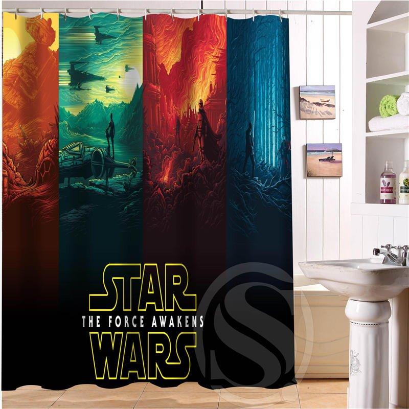 Star Wars Shower Curtain Series Hollywood Design Force Awakens