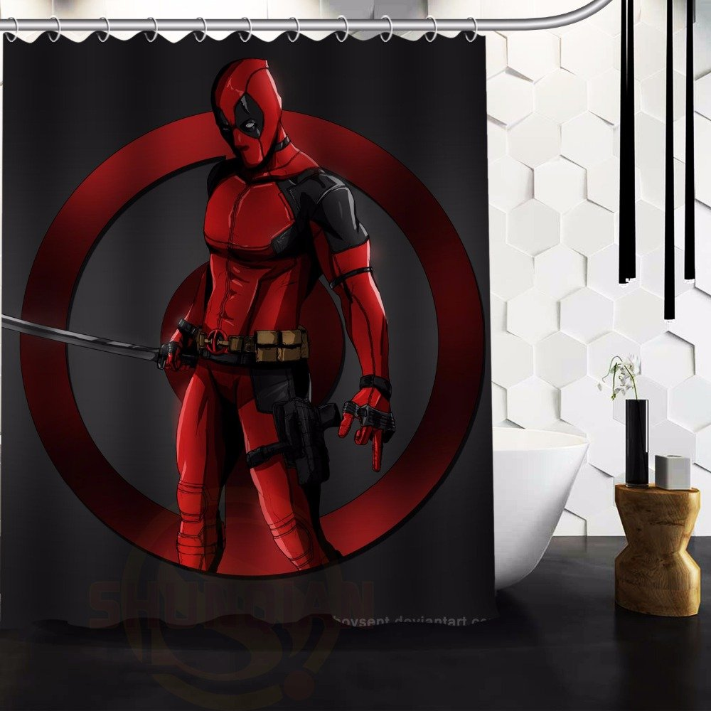 Deadpool Shower Curtain Series Hollywood Design 3