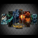 World of Warcraft Gaming 5pc Wall Decor Framed Oil Painting HD