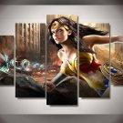 Wonder Woman Comics HD 5pc Wall Decor Framed Oil Painting Superhero