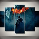 Batman City Destroy HD 5pc Wall Decor Framed Oil Painting Superhero