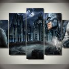 Batman Gotham HD 5pc Wall Decor Framed Oil Painting Art Superhero