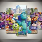 Monsters University Monsters Inc 5pc Wall Decor Framed Oil Painting Disney Cartoon