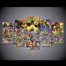 Dragon Ball Z Group Framed 5pc Oil Painting Wall Decor Cartoon