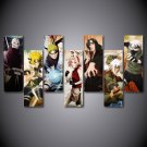 Naturo Cartoon Characters HD Framed 5pc Oil Painting Wall Decor