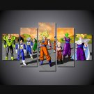 Dragon Ball Z Main Characters HD Framed 5pc Oil Painting Wall Decor cartoon