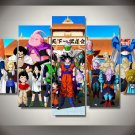 Dragon Ball Z Framed 5pc Oil Painting Wall Decor 4 HD Cartoon Bedroom