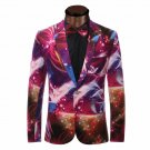 Color Blast Print Mens Tuxedo Suit Jacket Coat