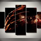 Freddy Krueger Elm Street Horror 5pc Wall Decor Framed  Oil Painting - Large sizer
