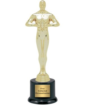 """Hollywood Movie Award Academy Statue Trophy - 10.5"""" (Includes Engraving)"""