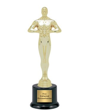 "Hollywood Movie Award Academy Statue Trophy - 9.5"" (Includes Engraving)"