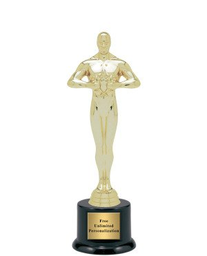 """Hollywood Movie Award Academy Statue Trophy - 8"""" (Includes Engraving)"""