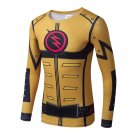Flash Superhero Compressed Long Sleeve Shirt Marvel DC SALE -Gold/Yellow