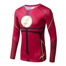 Flash Superhero Compressed Long Sleeve Shirt Marvel DC SALE -RED