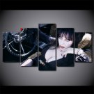Elvira Mistress of the Dark Horror Film Fans 5pc Framed Canvas Painting Wall Decor 2