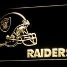 Raiders Football Helmet LED Neon Sign 3D Sports