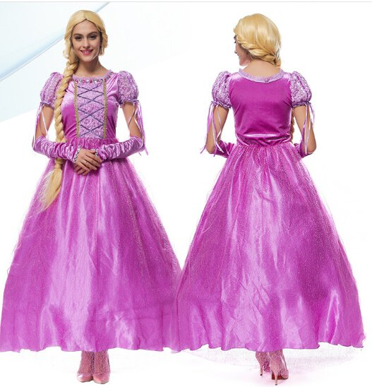 Adult Tangled Rapunzel Princess Character Costume Dress