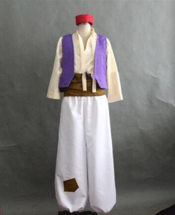 Cosplay Aladdin Costume Adult Male Men