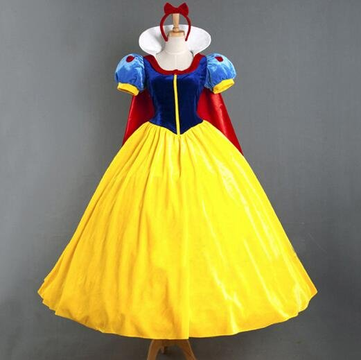 Adult Snow White Cosplay Disney Character Costume Dress
