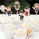 Harry Potter Character Cupcake Toppers 72pcs Birthday Party
