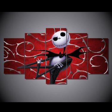 Nightmare Before Christmas Disney Cartoon Jack Skeleton Framed 5pc
