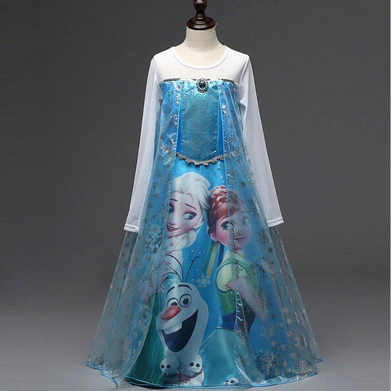 Elsa and Anna Frozen Dress Blue 4T.4,5,6,7, 8 Dress up  $3 SHIPPING
