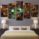Mortal Kombat Gaming Scene Wall Decor Framed Oil Painting Bedroom art HD