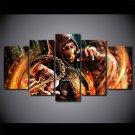 Mortal Kombat Gaming Fighter Character Canvas Painting 5pc Framed Oil Painting Bedroom art HD