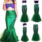 Little Mermaid Adult Costume Cosplay Ladies Sea Princess Women Halloween Costume