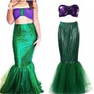 Little Mermaid Adult Costume Cosplay Ladies Sea Princess Women Disney  Halloween Costume $1 SHIP