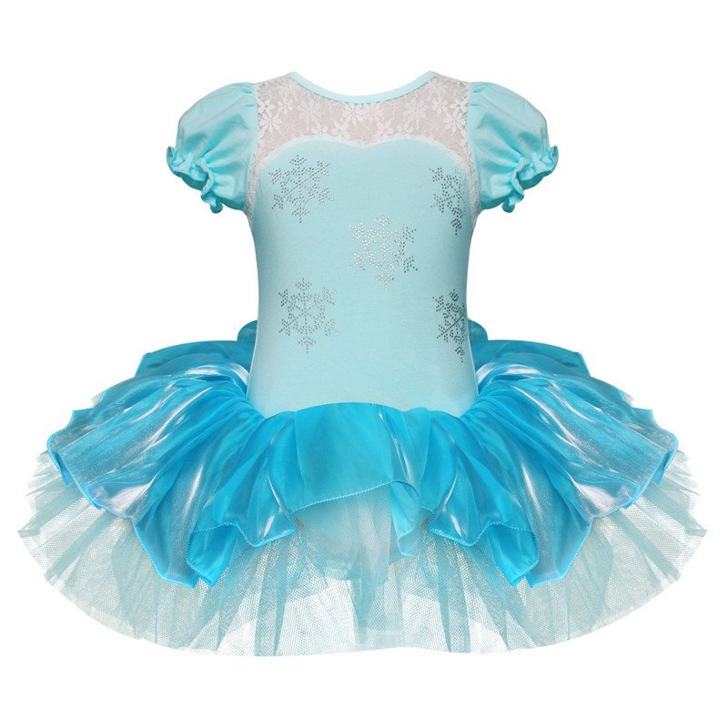 Princess Elsa Ballet Dance Tutu Dress Girls Party Costume 3T-8