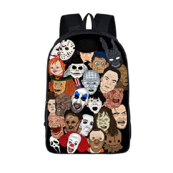 Horror Film Fans Movie Characters Nightmare Backpack School Bag