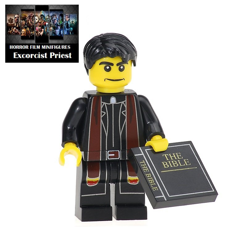 Excorcist Priest Horror Film Movie Character Lego Minifigure Mini Figure Free shipping offer