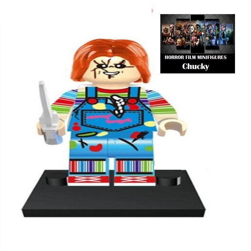 Chucky Childs Play Horror Film Movie Character Lego Minifigure Mini Figure Free shipping offer