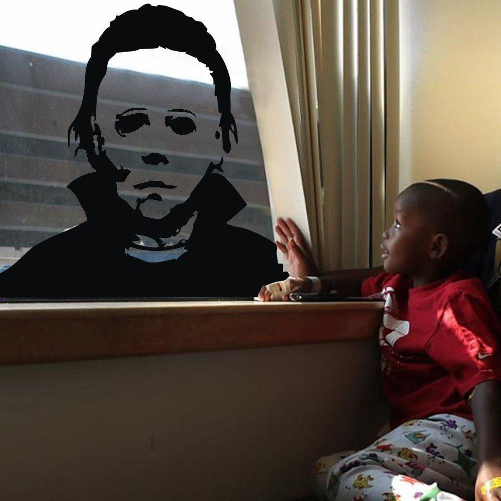 Michael Myers Scary horror Film Halloween Face Decal Sticker Decor Window