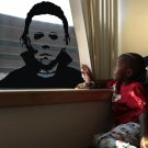 Michael Myers Scary horror Film Halloween Face Decal Sticker Decor Window