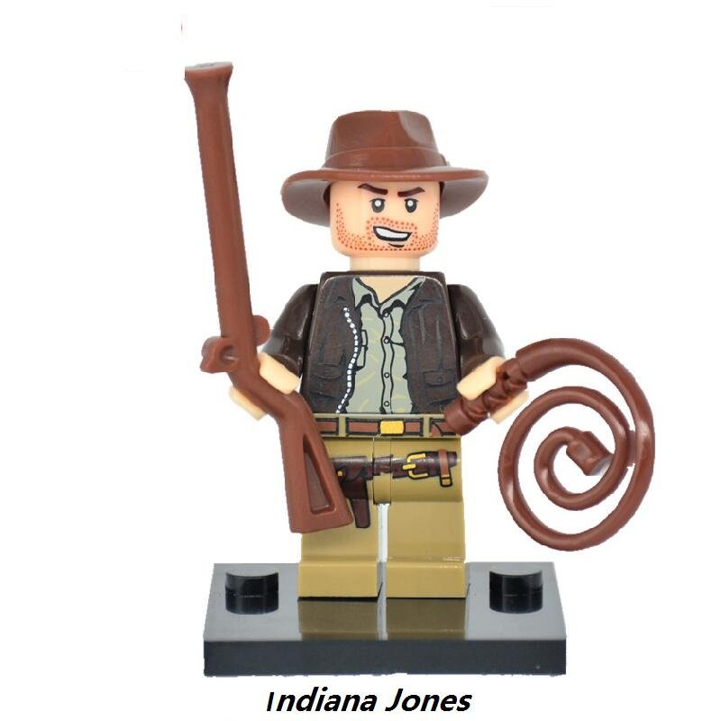 Indiana Jones Movie Character Minifigure Lego Mini Figure Build block