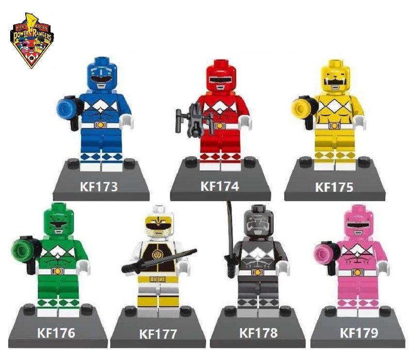 Power Rangers 7pc Character Minifigure Lego Mini Figure Build block set