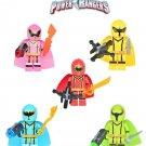 New Power Rangers 5pc Character Minifigure Lego Mini Figure Build block set
