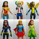 SuperHero Girls  6pcs/set Action Figures Wonder Woman Poison Ivy Harley Quinn Bumble Bee