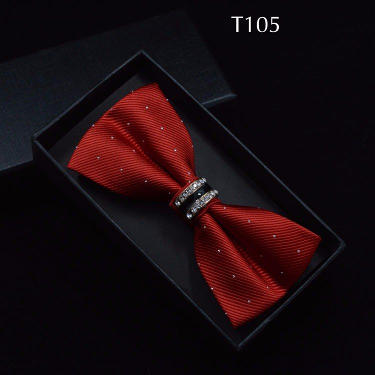 Tuxedo Bow tie Red carpet crystal accent butterfly knot Men suit accessory 105