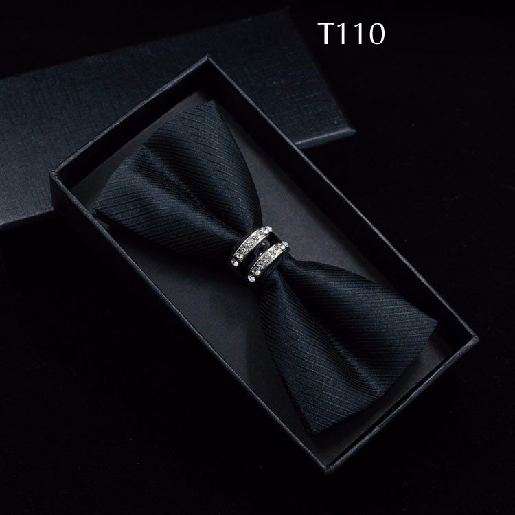 Tuxedo Bow tie Red carpet crystal accent butterfly knot Men suit accessory 110