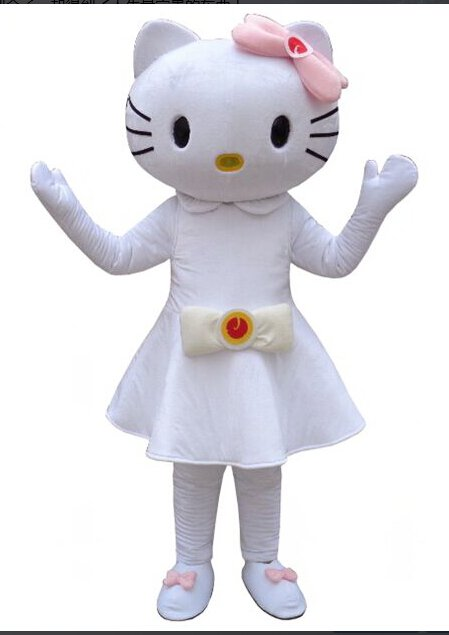 Hello Kitty Mascot Character Costume White Adult Halloween- NEW ARRIVAL