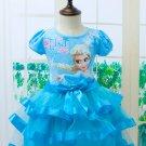 Baby Girl Elsa Frozen Elsa Dress Blue Kids  3T, 4T, 5, 6, 7,8