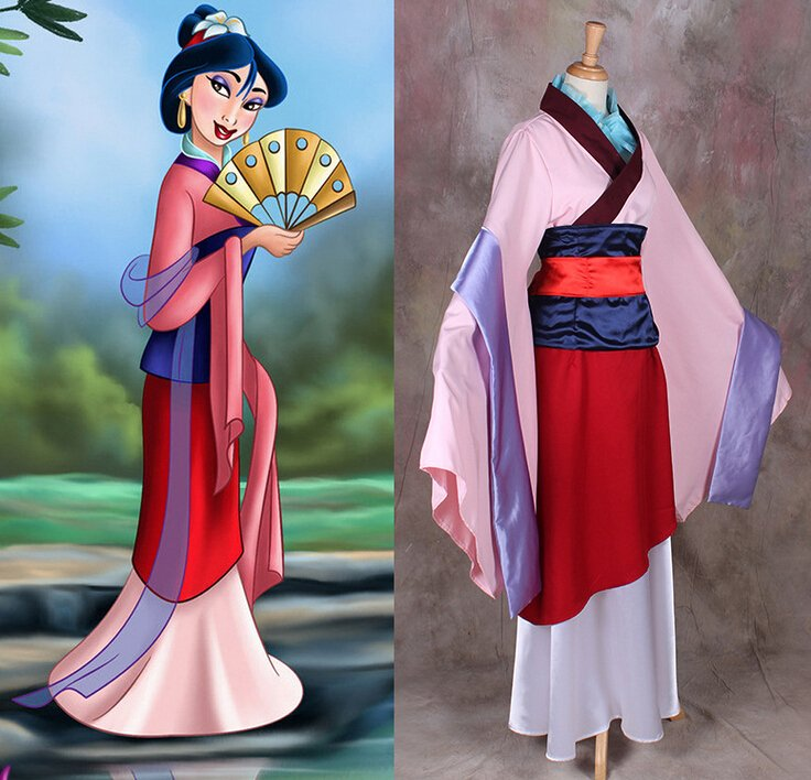 Mulan Hua Princess Character Costume Adult Custom Design